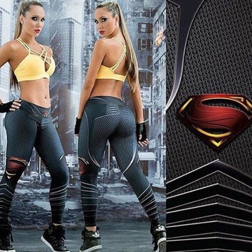 Fitness Leggings Women Gym Workout Sport Leggins 3D Printed Skinny Calzas Pants Deportivas Running Mujer [8833450764]