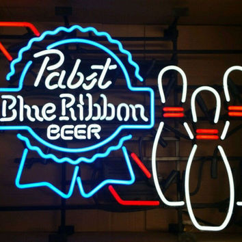 Pabst Blue Ribbon Bowling Neon Sign