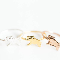 Running baby elephant knuckle ring,Stacking Rings,Above Knuckle Ring ,Midi Rings,Mid Finger Rings,First Knuckle Ring ,Stackable Ringrn290914