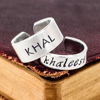Khal and Khaleesi - Game of Thrones - Adjustable Aluminum Ring Set