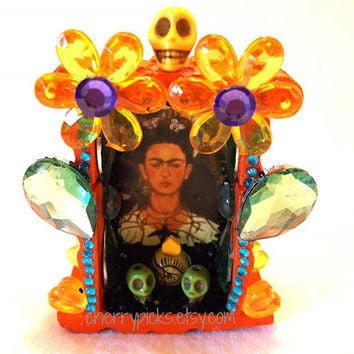 Frida Kahlo Nicho-Day of the Dead Decoration-Dia de los Muertos Shrine