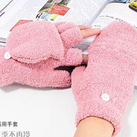 2015 New Fashion Unisex Stretchy Soft Warm Winter Warm Full Finger Thick Faux Gloves Women