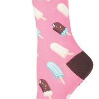 Ice Cream Pop - Novelty Crew - Women's Socks