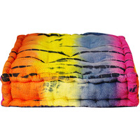 Small Tie-dye Floor Cushion (India) | Overstock.com Shopping - The Best Deals on Throw Pillows & Covers