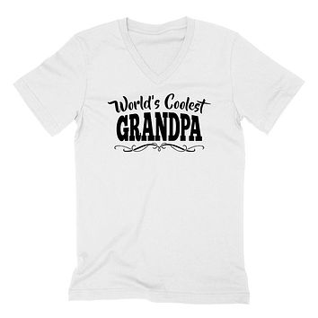 World's coolest grandpa Father's day birthday gift ideas for new grandpa proud grandfather gifts for him  V Neck T Shirt