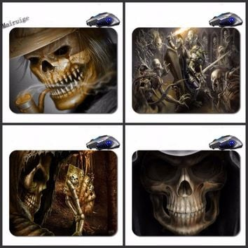 18*22cm/25*20*cm/25*29cm Rectangular Non-slip Rubber Skull Poker Mouse Pad Computer Gaming Table Mouse Pad