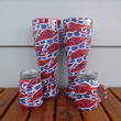 4 glasses - 2 pilsner beer glasses and 2 mason jar shot glasses hydrodipped in confederate flag camo
