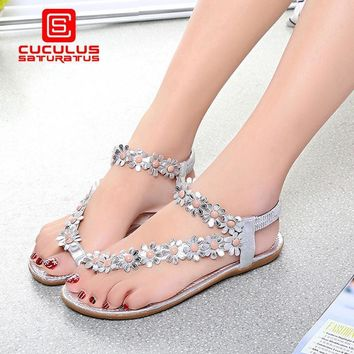 Cuculus 2017 Women Sandals Summer Style Bling Bowtie Fashion Peep Toe Jelly Shoes Sand