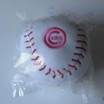Chicago Cubs MLB Pink Embroidered Plush Team Ball