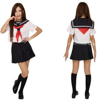 Japanese Japan School Girl Short-sleeved Uniform Cosplay Costume New T033