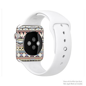 The Tan & Color Aztec Pattern V32 Full-Body Skin Kit for the Apple Watch