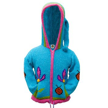 Lady Bug Girls Toddler Hooded Sweater