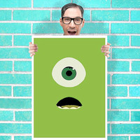 Monsters inc Mike Art - Wall Art Print Poster 16x23 Inch - Kids Children Bedroom Geekery