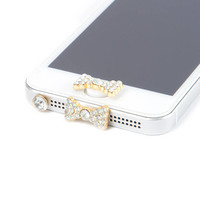 Crystal Bow Anti Dust Plug Set for iPhone 5 and 5s