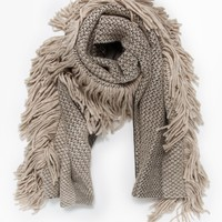 Rachel Comey / Fringe Scarf in Taupe