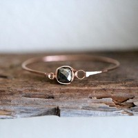 Pyrite Bezel Bangle