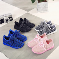 Children Sneakers Yeezy Shoes Girls Kids Roller Shoes Baby Boys Sneakers Children Heelys Wheelie Kids Running Shoes All Black