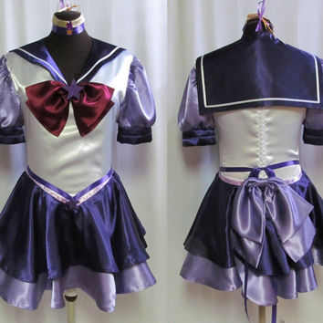 Eternal Sailor Scout Sailor Moon Costume Cosplay Adult Women's Size 4 6 8 10 12 14 Venus Mars Jupiter Mercury Neptune Chibi Saturn Pluto