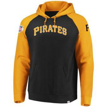 Pittsburgh Pirates Majestic MLB Black/yellow Attitude Pullover Hoodie