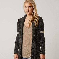 GILDED INTENT CABLE KNIT CARDIGAN SWEATER