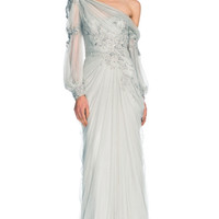 Drop Shoulder Tulle Gown by Marchesa for Preorder on Moda Operandi