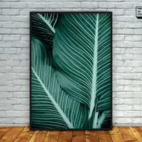 Tropical Leaf Print, Tropical Print, Tropical Decor, Tropical Printable Art, Digital Art, Tropical Plant Print, Tropical Decor, Nature Print
