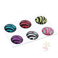 Everydaysource® 6 Pieces Animal Home Button Sticker Compatible With Apple iPod Touch 6th Gen Apple® iPhone® 6 (4.7), iPhone® 6 Plus (5.5) new Apple®.. iPhone.. 4S, Zebra Patterns