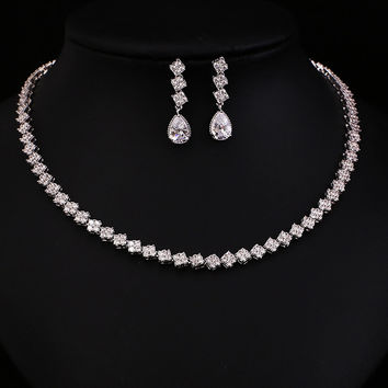 Clear AAA Cubic Zircon Jewelry Set