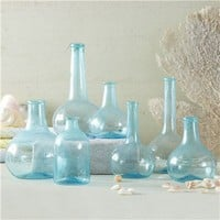 Aquamarine Blues Bottles Set of 7