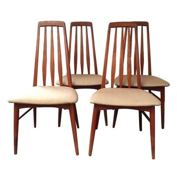 Pre-owned Vintage Mid-Century Danish Teak Chairs - S/4