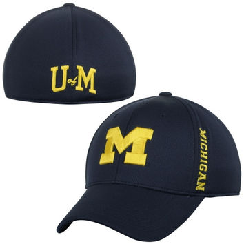 Michigan Wolverines Top of the World Booster Memory Fit Flex Hat - Blue