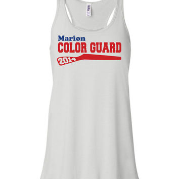 Color Guard flowy tank, band shirt, colorguard, high school marching band, winter guard, summer band