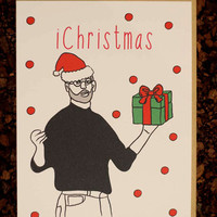 Steve Jobs Christmas Card Funny Boyfriend Girlfriend Wife Husband Teens