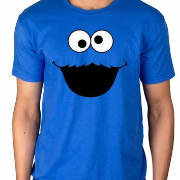 Official Sesame Street Cookie Monster T-Shirt Elmo Early Bird Grover Ernie Oscar 3D Men Hot Cheap Short Sleeve Male T Shirt