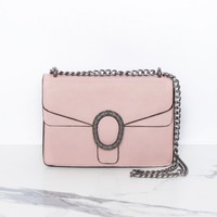 Maisie Pink Chain Cross Body Bag Missy Empire