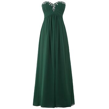 Elegant Long Formal Chiffon Prom Dress