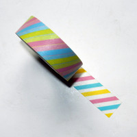 Pastel Striped Washi Tape