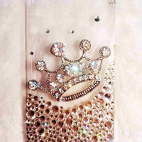 iPhone 4 case - iphone 5 case - Bling iphone 4 case - Crown iphone 4 case - Clear iPhone 4 / 5 crystal case best iphone case