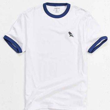 UO Embroidered Parrot Ringer Tee