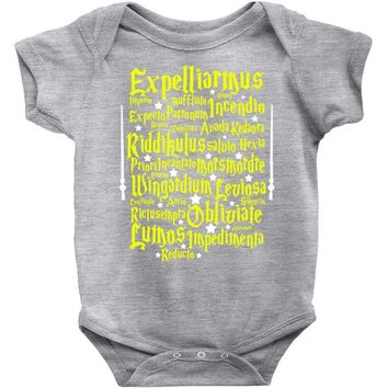 Expelliarmus Harry Potter Spell Baby Onesuit