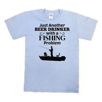 Funny Fishing Shirt Beer T Shirt Drinking Gifts For Fishermen Gifts For Dad Shirt Grandpa T Shirt Beer Lover Beer Drinker Mens Tee - SA659