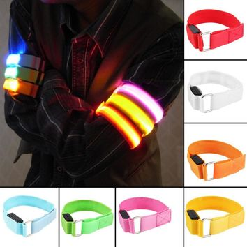 LED Arm bands Lighting Armbands  Leg Safety Bands for Cycling/Skating/Party/Shooting 7 Colors