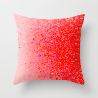 coral dream Throw Pillow by Marianna Tankelevich