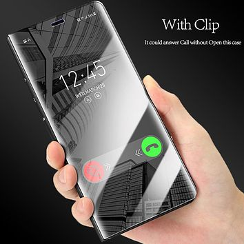 Elegant Smart View Mirror Case for Samsung Galaxy S8 and S8 Plus