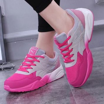 Puma Running Sport Casual Shoes Women Men Sneakers shoes Pink grey