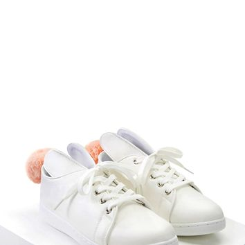 Faux Leather Bunny Sneakers