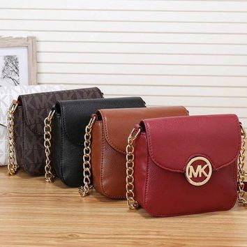DCCKXT7 Michael Kors' Simple Casual Fashion Letter Print Metal Chain Single Shoulder Messenger Bag MK Women Small Bag