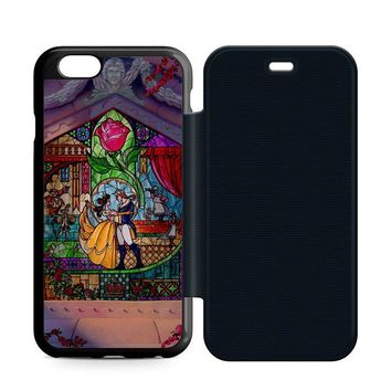 Beauty and The Beast Art Leather Wallet Flip Case iPhone 6 | 6S