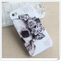 iPhone 4 Case - flower skull iPhone 4s Case - Cute iPhone Cases covers for 4g  4s
