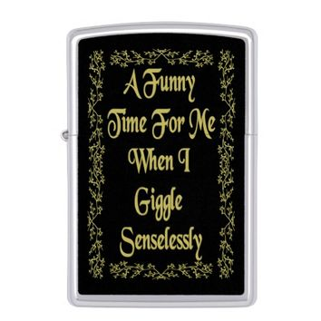 Funny Gold Quote by Kat Worth Zippo Lighter